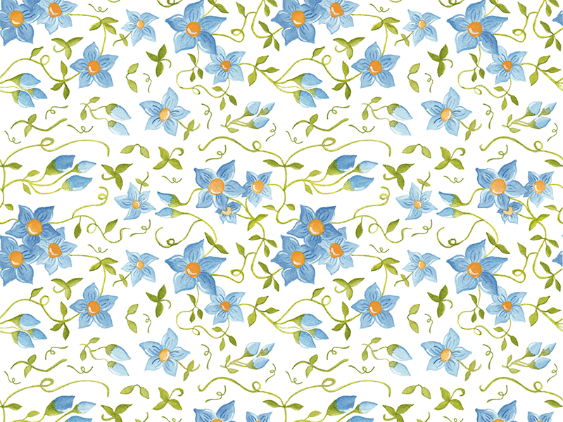estampado WEB blue margaritas