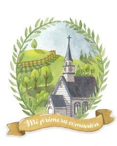 Paisaje iglesia retocada